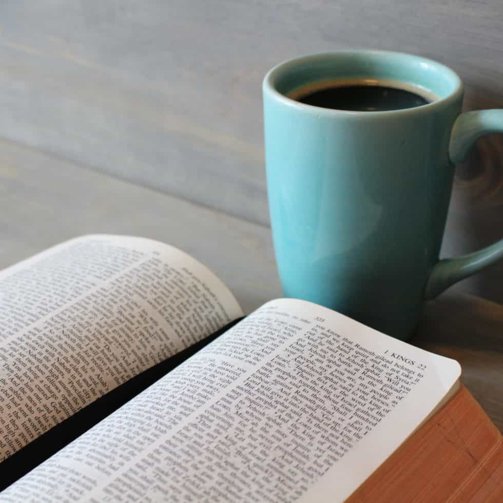 Bible and a cuppa
